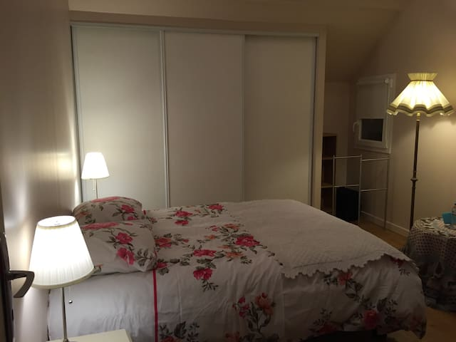 Bright spacious bedroom Centrex Paris/Disneyland