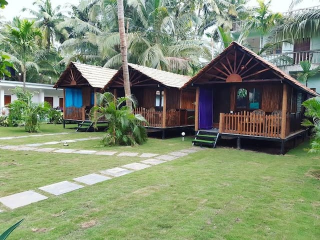 Garden View Eco-Cottage with Balcony at Agonda 1