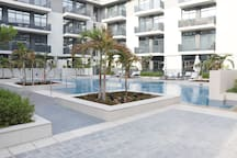 Communal Pool area directly accessible from the apartments patio gate