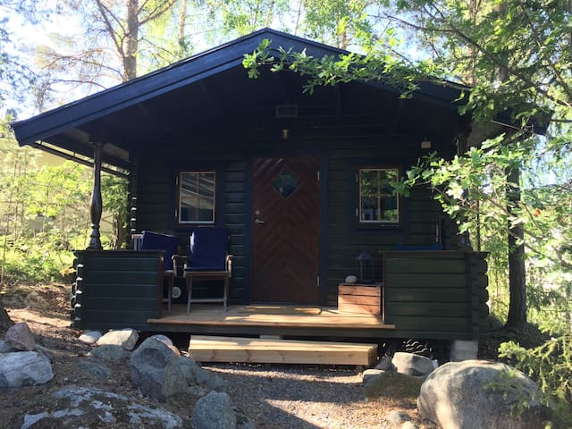 Quaint cabin north of Stockholm.