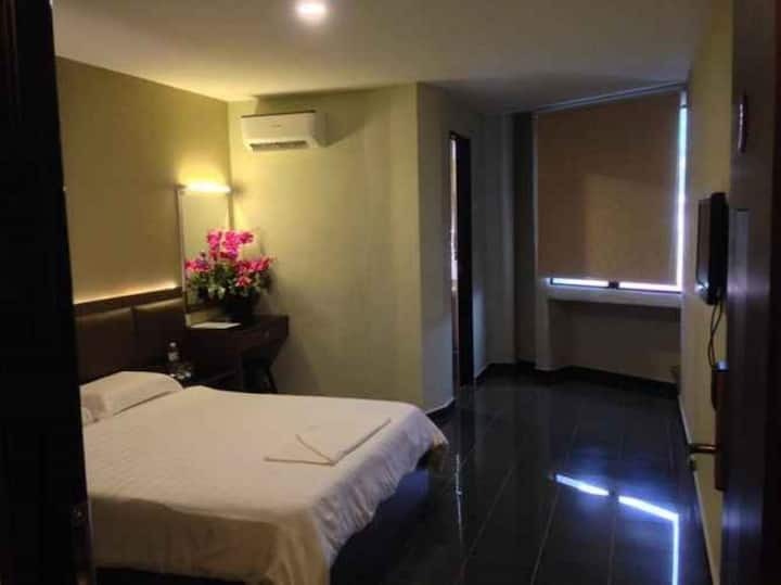 Clean Double Room with Window at B+ Hotel