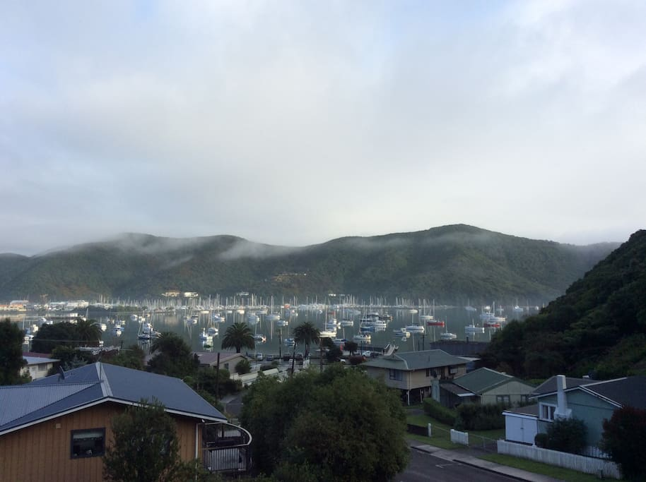 views of Waikawa Bay