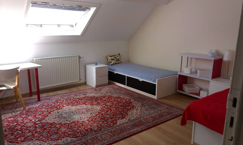 Room in south green Brussels with good connections - Uccle - Huis