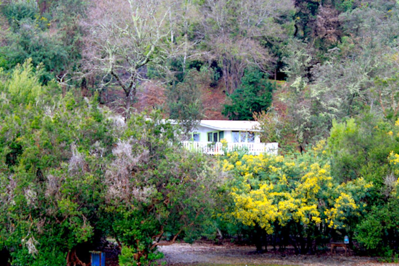 vista general casa desde la playa privada