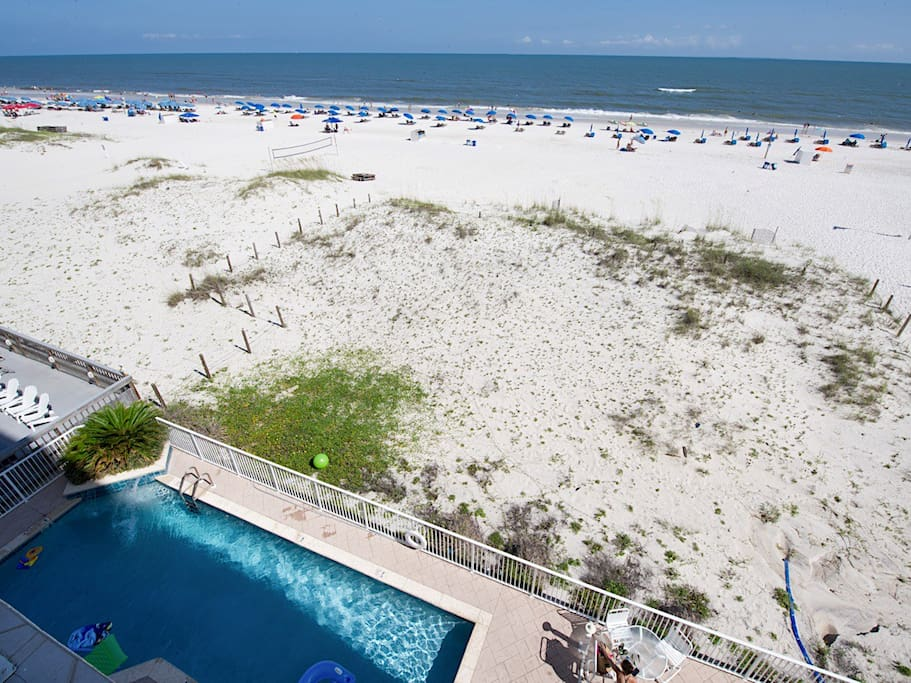Splash in the Gulf-front pool or relax on the sand.
