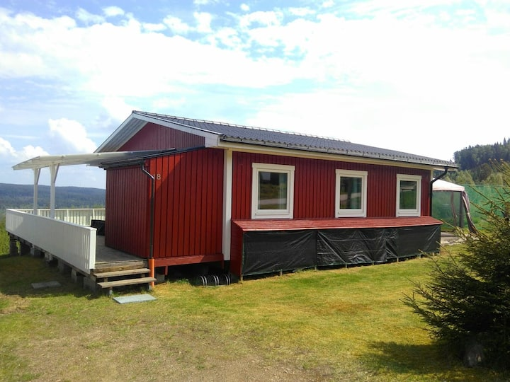 Ferienhaus mit Aussicht über den See Rottnen