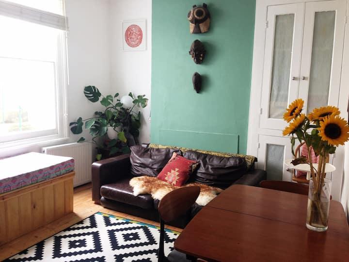 Large, light loft room with en-suite