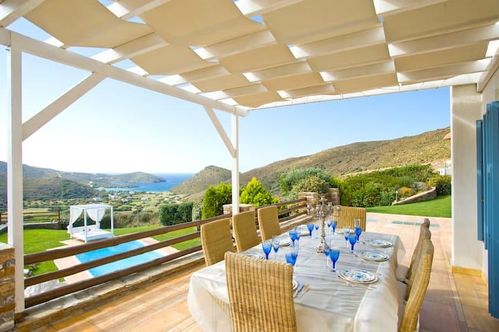 Heliades Villas- Summer Away in Villa with Pool