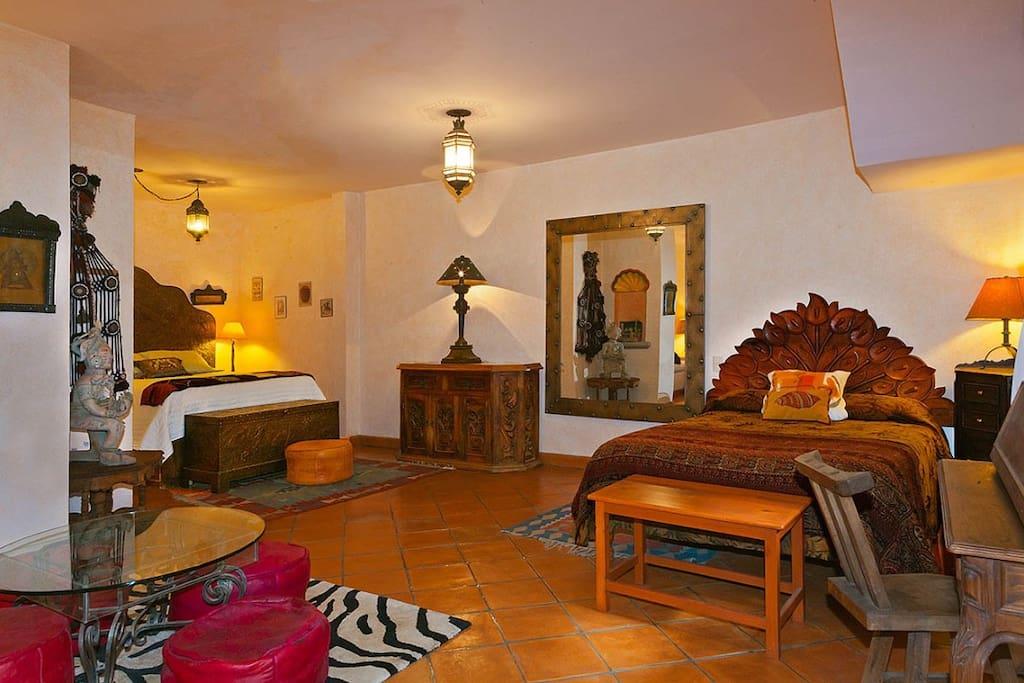 Bedroom of Moroccan suite
