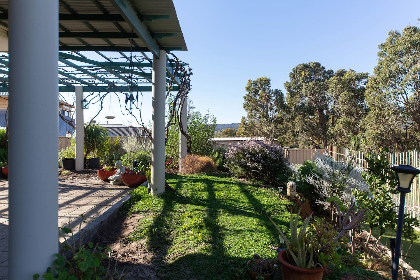 As you relax on the back patio your view of John Forrest National Park embraces you