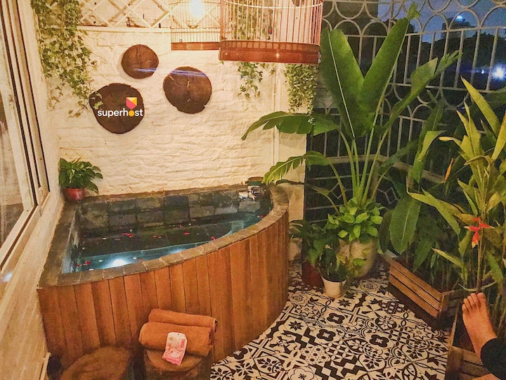 GStudio🌿SECRET GARDEN🌿HOT TUB⭐️5 mins to HK lake