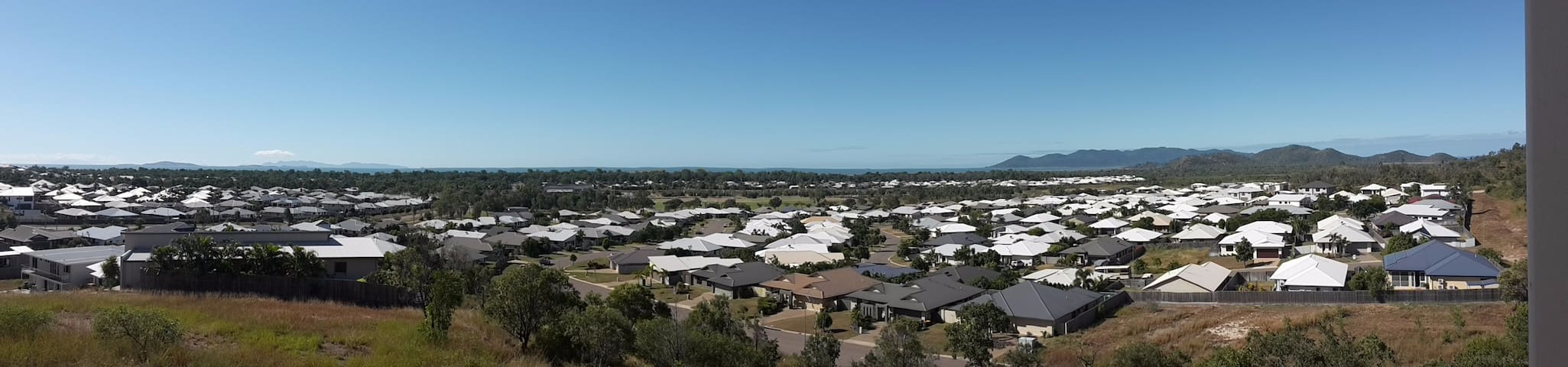 Over looking Bushland Beach and the ocean.