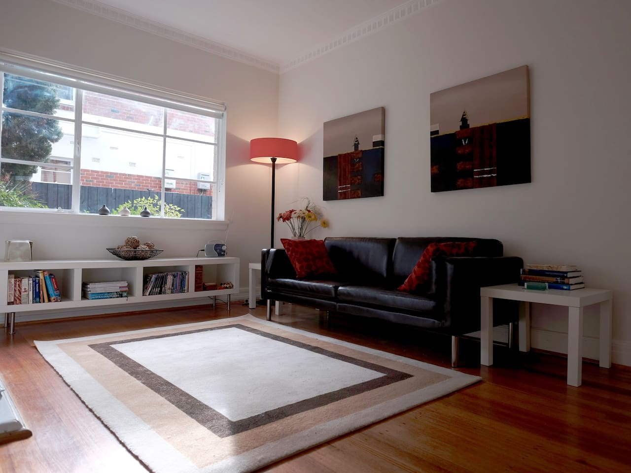Compact, stylish apartment.