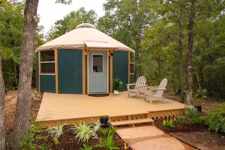 """""""The Agave""""☀Luxury Yurt Cabin☀Private Deck+Bath☀"""