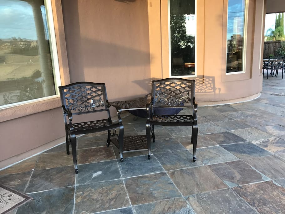 Chairs on the patio