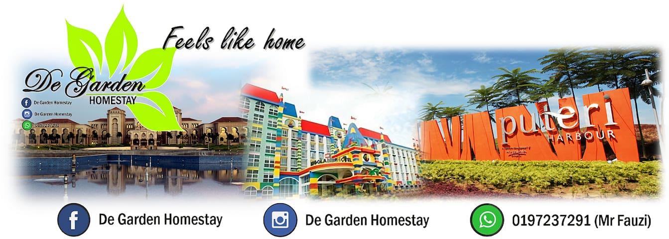 De Garden Homestay Gelang Patah Nusajaya Legoland - Pekan Nanas - Hus