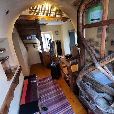 Private four-bedded room at Krumlov House
