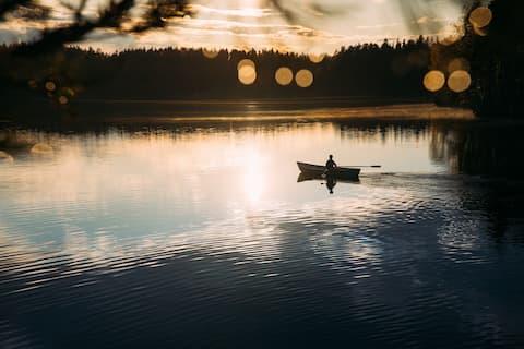 Kuusihütte im KATVE Naturschutzgebiet bei Helsinki