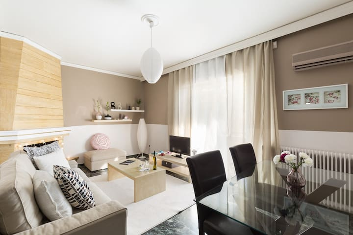 Cosy-relaxing flat next to Metro - Chalandri - Apartment