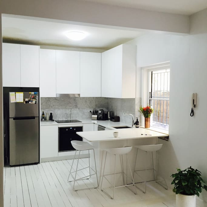 recently renovated kitchen with all the amenities