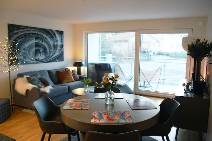 Newly built apartment in Tylösand near golf & bath
