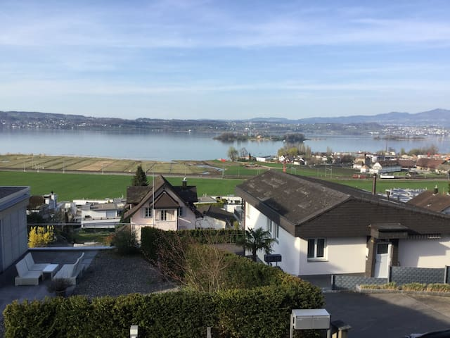 Schönste Aussicht auf den Zürichsee - Pfäffikon SZ - Wikt i opierunek