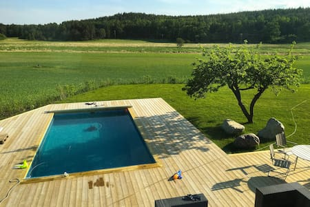 A new unique luxury home with pool - Sigtuna  - Дом