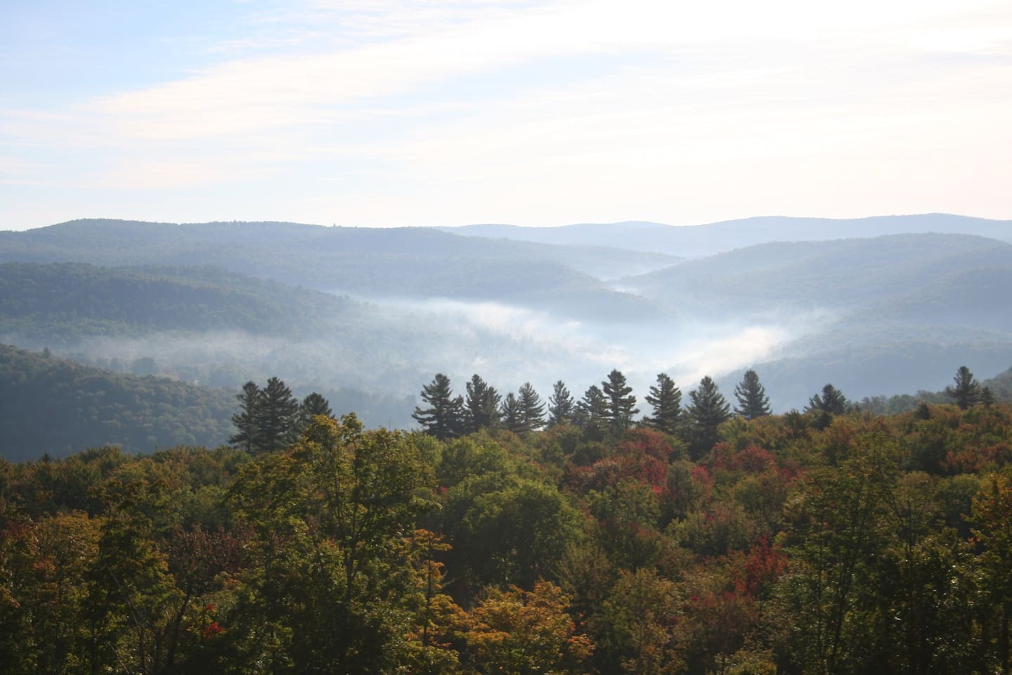 View in early fall
