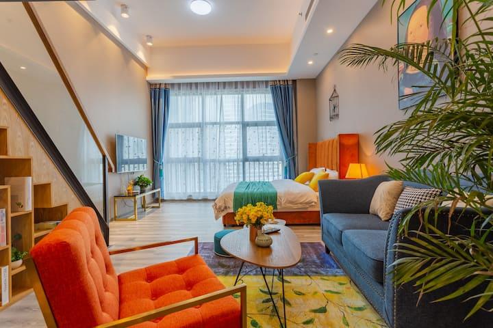 拱北口岸珠海站圆明新园loft精品公寓