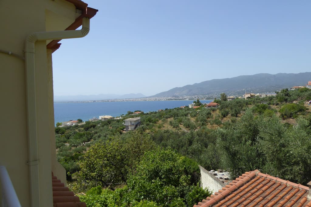 Messinian gulf from the house