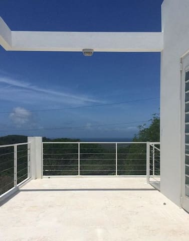 2nd floor terrace view towards the natural reserve and St Croix.