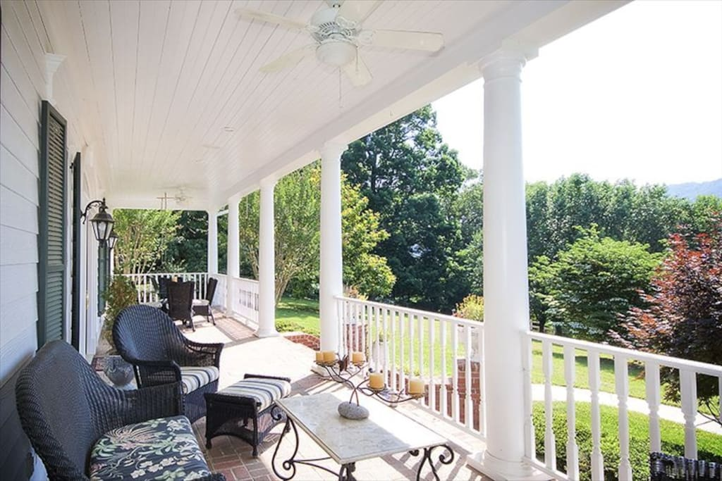 Enjoy a tasty beverage while relaxing on the front porch