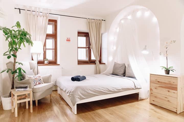 h-A cozy bedroom in 600 y.o. house