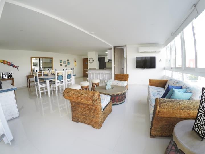 Hermoso apartamento 130 metros  con  vista al mar