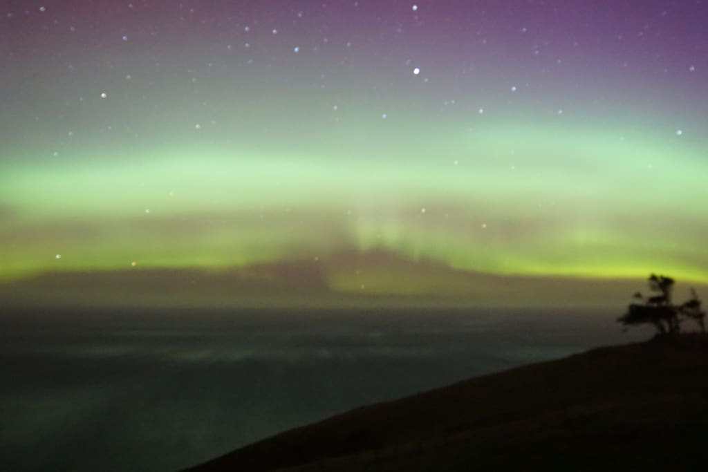 Aurora from our deck (photo by Val Besson)