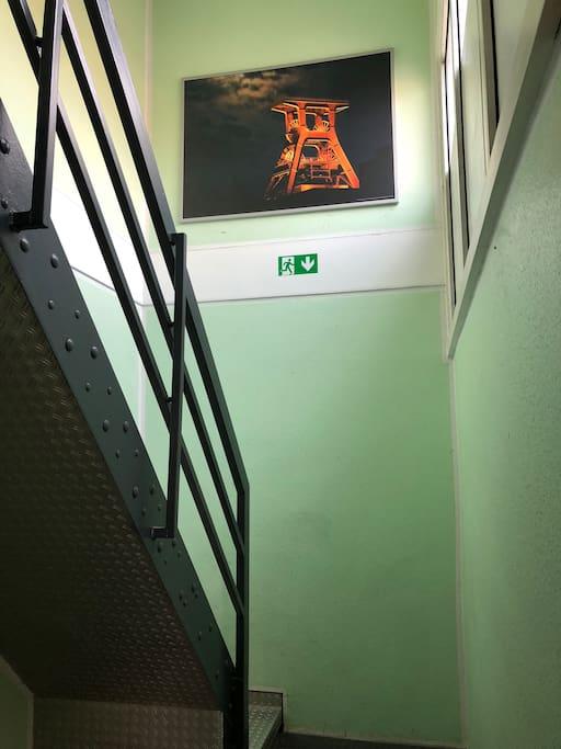 Treppenaufgang zum Gästehaus