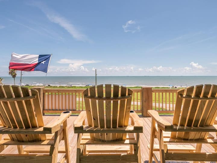 Feeling TipSea, 2nd Row, Crystal Beach, TX, Vacation Home, Oceanview