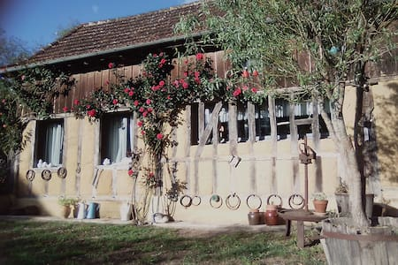 Nice half-timbered restaured barn