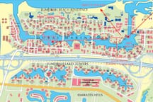 Full outline map of the Marina area and key locations