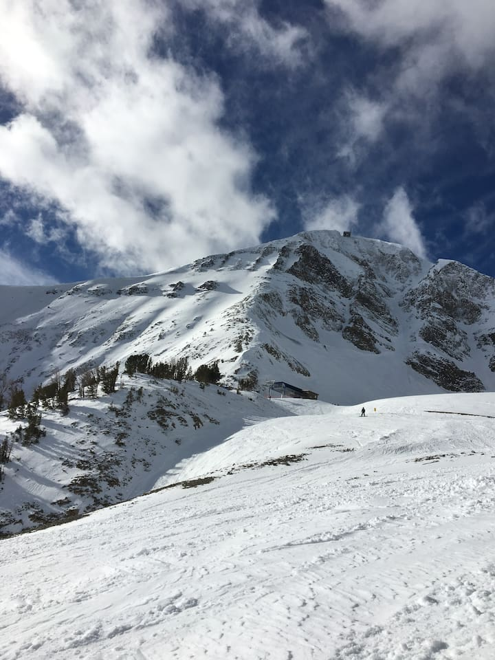 Opening day view of Lone Peak 2017/2018