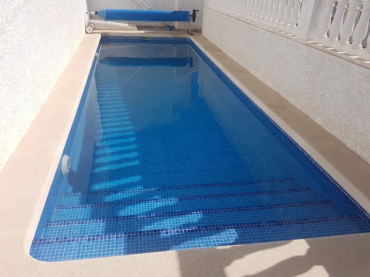 Two bed villa with private pool sleeps 6
