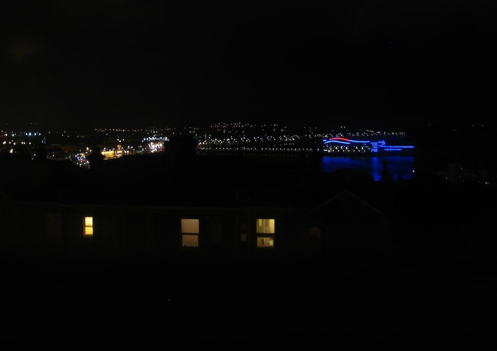 View at night from the flat