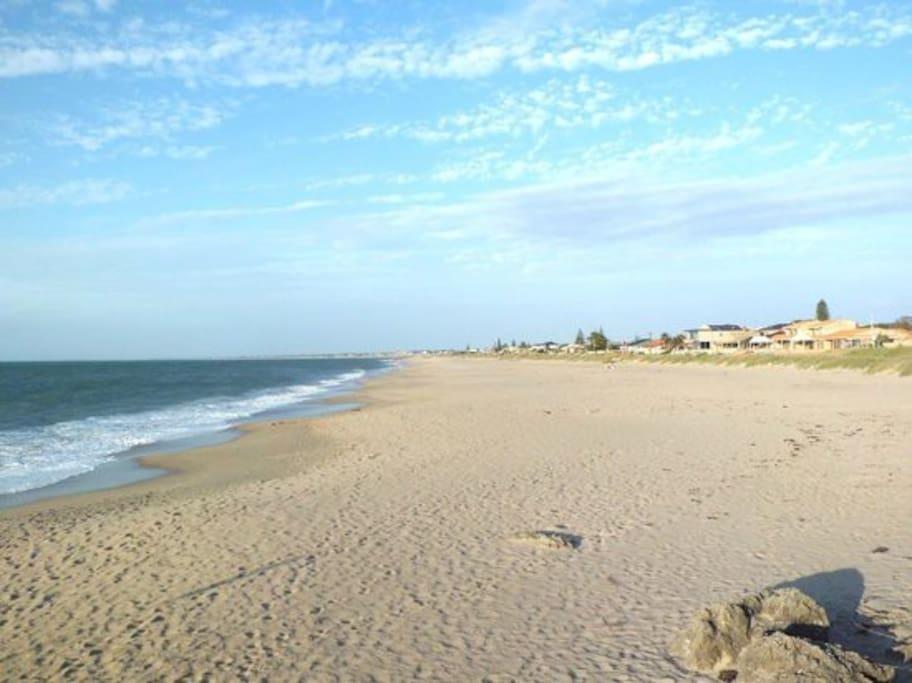 Silver Sands Beach - just a short walk away.
