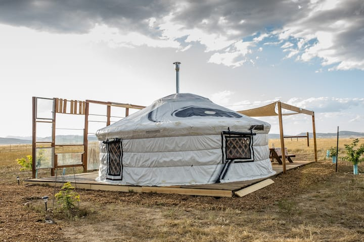 Fort Collins staycation Yurt off grid living!