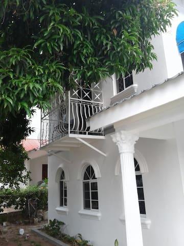 Balcony nestled in the tree