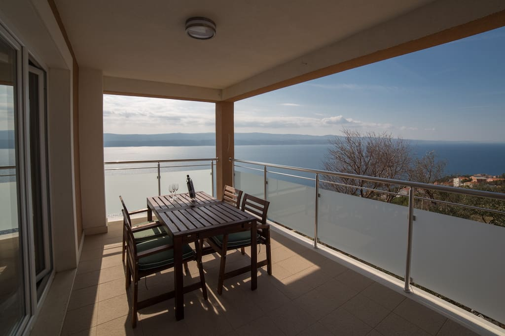 Stunning view on the spacious terrace, 16m2