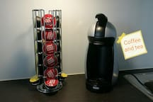 I have traditional and capsule coffee makers and tea available in the apartment.