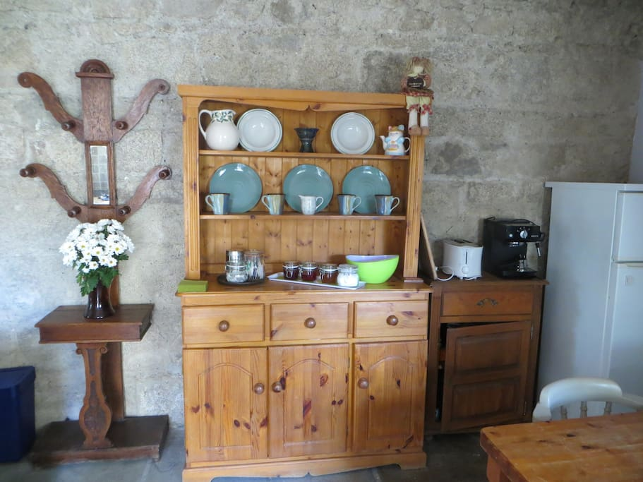 Rustic, refurbished kitchen with everything you may need