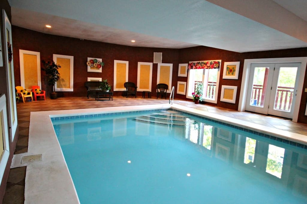 No Worries, on those Long or Rainy Days Enjoy the Lower Level Indoor Pool Area