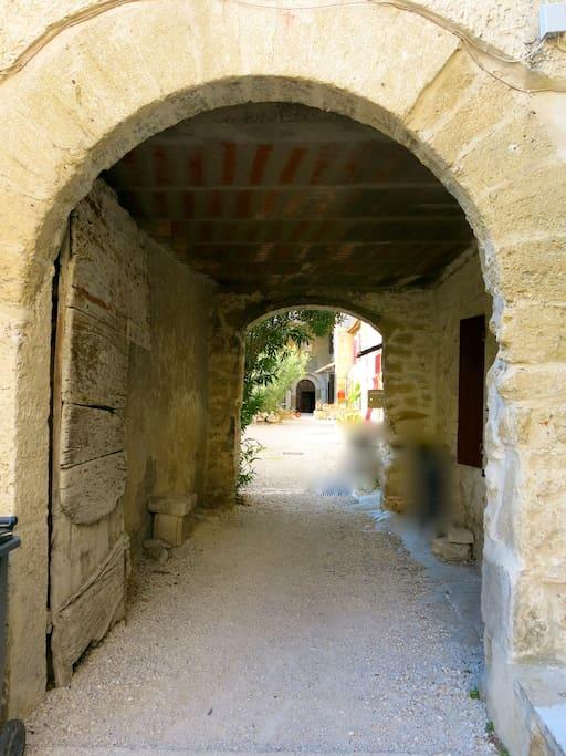 entrée de l'ancien monastère